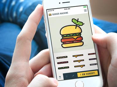 Burger Machine App burger mashine app justas studio4 application hungry iphone pickle cheese onions