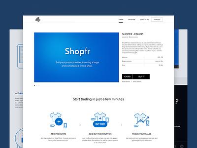 Shopfr joomla justas studio4 web design shop commerce sales illustrations blue clean