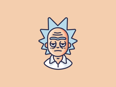 The one and only - Rick rick and morty rick design outline icons character emoji icons outline icon illustration