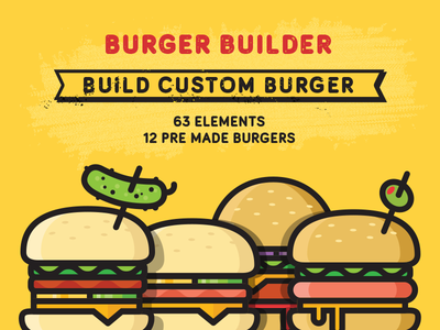 Burger Builder hamburger burger justas studio4 builder icons illustrations