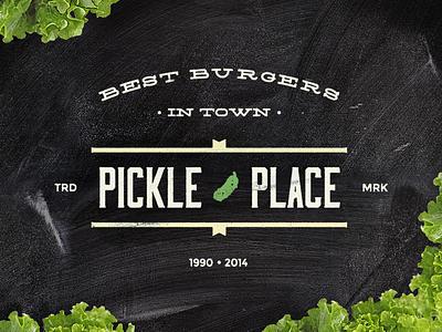 Pickle Place pickle badge logo pickle place burgers hamburgers studio4 justas