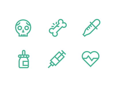 Medical Icons medical healthcare doctor icons outline medical icons justas skull bone pulse pipette