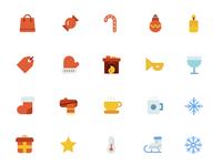 Flat Christmas Icons 2
