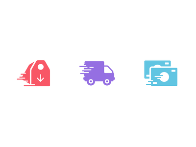 E-Commerce Icons e-commerce icons tag product sale shipping truck money pay sell justas studio4