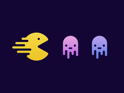 Jelly Packman jelly packman deiv justas ghosts illustration icon