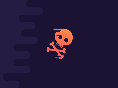 Wooshy Scull! scull bones icon illustration studio4 justas speed fast