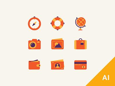 Free Travel Icons free icons free travel icons free flat icons flat icons travel icons travel camera money cash compass globe suitcase
