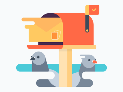 Mail Pigeons mail concats contact page pigeon mail pigeon mail box email post notification esellio envelope e-mail