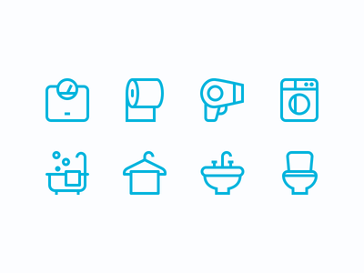 Bathroom Icons scales bathroom outline icons icons bathroom icons outline bathroom icons toilet washing machine hair dryer sink towel toilet paper
