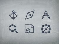 Vintage Navigation Icons