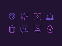 Neon Signs Icons