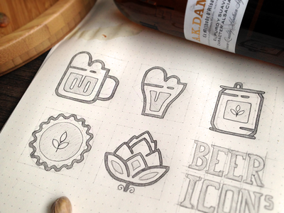 Beer Icons Sketch icons outline icons sketch icon sketch beer beer icons outline beer icons beer glass beer can bottle cap instagram hops