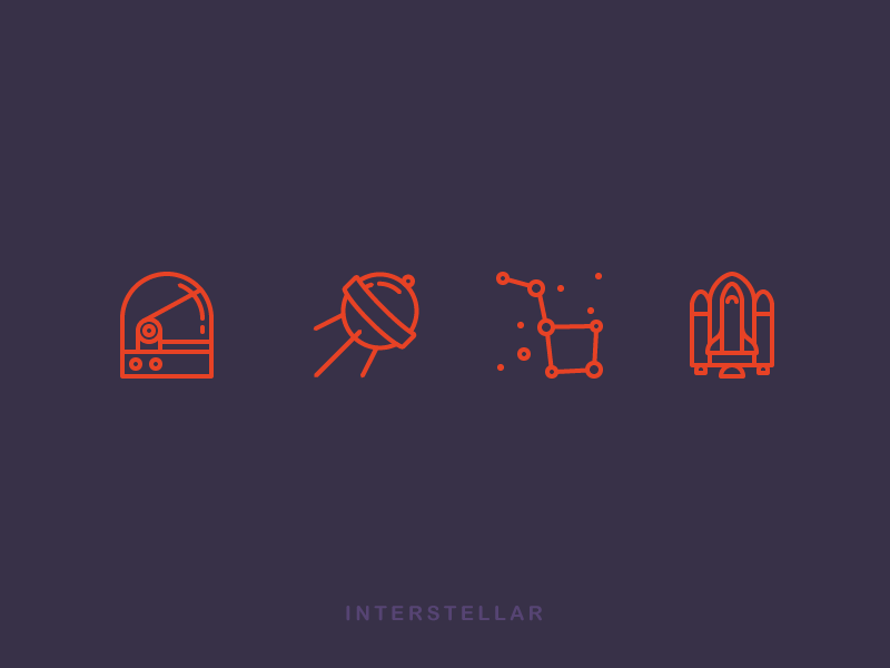 Interstellar Icons icons outline icons interstellar cosmos space satellite stars shuttle space shuttle space suit dipper galaxy