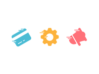 Speedy Icons transaction gear money colourful megaphone settings api credit card card flat icons flat icons