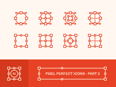 Create Pixel Perfect Icons - Part 2 box curves bezier circle shapes vector pixel perfect icons pixel-perfect pixel outline outline icons icons