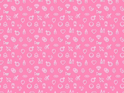 Pink Wedding Pattern marrage champagne ring love heart seamless wedding weddings outline patter outline icons icons pattern