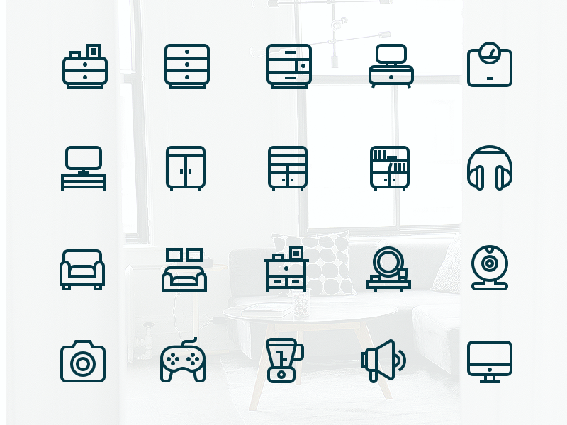 Outline Interior Icons By Justas Galaburda