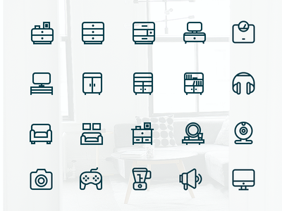 Outline Interior Icons