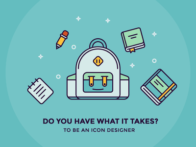 Do You Have What It Takes? iconutopia blog notes tools pencil note note book icon backpack illustration outline icons