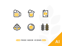 Free Outline Beer Icons