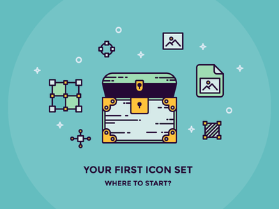 First Icon Set: Where to Start. article artboard image file chest iconutopia icon set outline outline icon icon newsletter blog