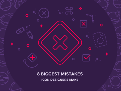 8 Biggest Mistakes Icon Designers Make icon designer mistakes space speech command broken pencil x blog iconutopia outline icons
