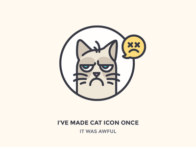 Grumpy Cat! magazine offscreen meme dead sad angry cat smile grumpy outline icon icons
