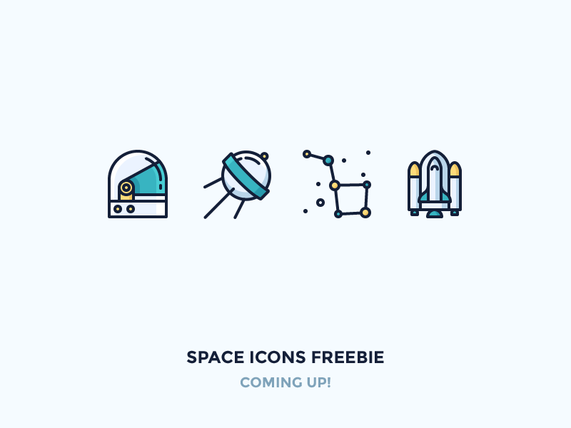 Space Icon Set dipper galaxy cosmonauts space craft shuttle stars satellite helmet outline icons space