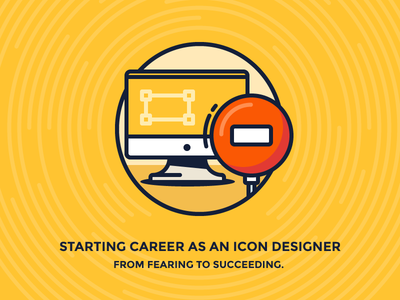 From Fearing To Succeeding iconutopia table blog illustration sign stop vector icon mac thunderbolt monitor