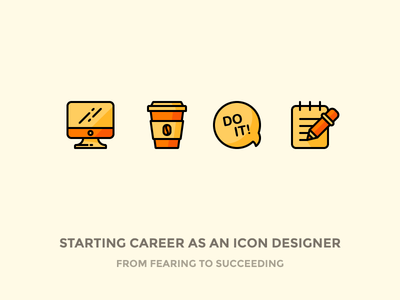 From Fearing To Succeeding! chat essentials outline icons notes notebook note do it starbucks coffee thunderbolt monitor
