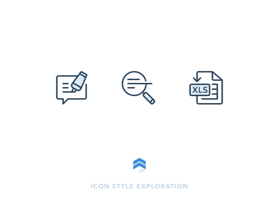Santieo Icons magnifying edit chat excel collaborate annotate search xls export outline icons santieo