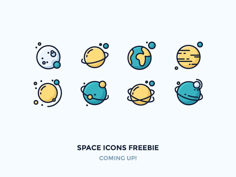 Space planets confetti
