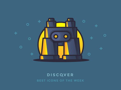 Discover best icons of the week! see explore field glasses look illustration discover gradient shiny best icons icon binoculars