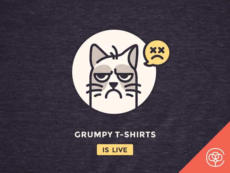 Grumpy t-shirts have been launched! dead illustration triblend launch iconutopia bureau cotton tees shirt tshirt t-shirt grumpy