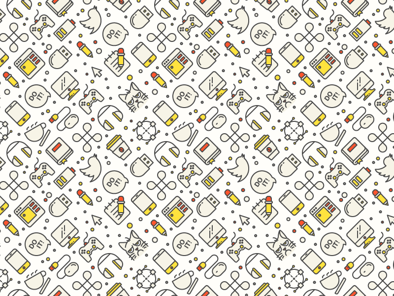 Offscreen Mag Pattern usb headphones battery twitter joystick command cmd mobile seamless icon pattern grumpy