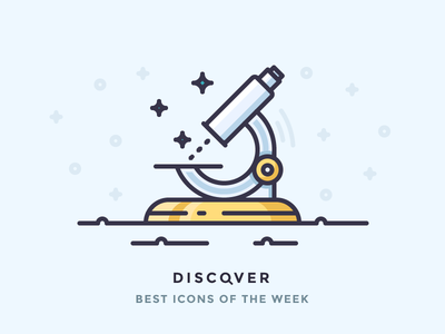 Discover best icons of the week! watch observation research science discovery icon best spot microscope discover outline icons