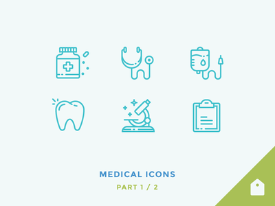 Medical Icons doctor transfusion stethoscope pills tooth microscope blood hospital medic medical outline icons