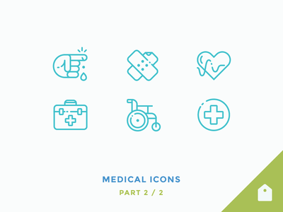 Medical Icons free hospital wheelchair briefcase heart rate heart plaster finger cut outline icons medical