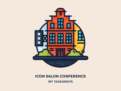 Amsterdam - Icon Salon old town home iconsalon xxx sign windows street building city amsterdam outline illustration