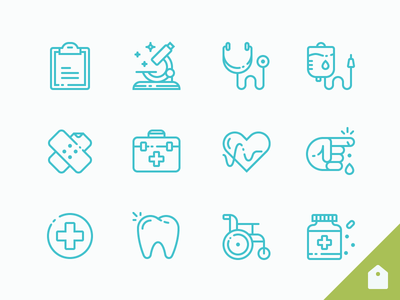 Medical Icons Freebie illustrator outline doctor hospital medicine healthcare ai free freebie medic icons medical