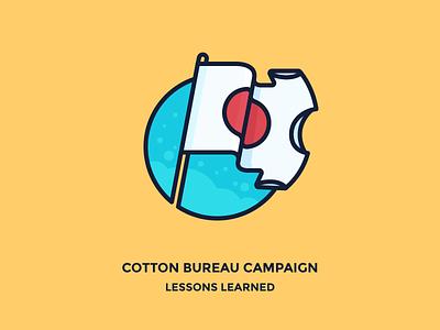 Successful Cotton Bureau Campaign clothing flutter bureau cotton illustration icon outline pole flag japan tees t-shirts