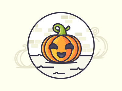 Best icons of the week! mouth eyes fun scoop face happy carving pumpkin illustration outline icon halloween