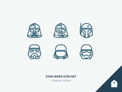 Star Wars Icons Freebie freebie fett boba helmet vader darth storm troopers wars star outline icons