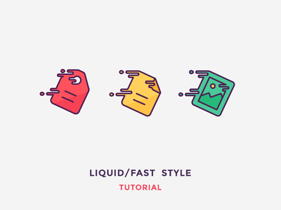 Liquid Icons flat speed frame picture document price tag illustration outline icon fast liquid