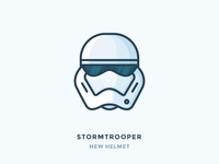StormTrooper head vector flat outline shadows helmet star wars trooper storm stormtrooper illustration outline icon