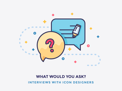 Interviews with Icon Designers blog writing answer question filled bubble conversation chat illustration outline icon interview