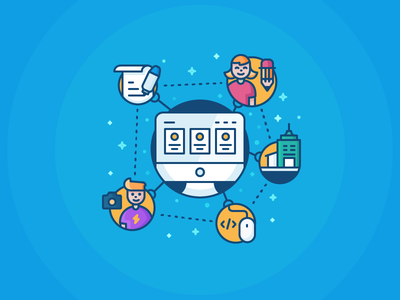 Manage Freelancers kalo application mac developer company photographer designer writer character freelancer icon illustration