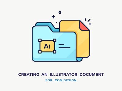 Creating an Illustrator Document paper document file folder filled outline icon illustrator adobe