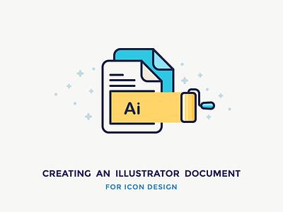 Illustrator Document For Icon Design colours pain roller document illustration filled outline icon file