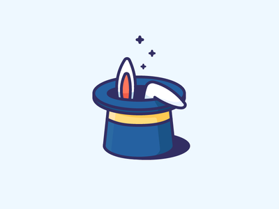 Best icons of the week! discover ears filled outline illustration icon miracle magician hat rabbit magic